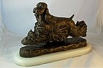 American Cocker Spaniel Moving with Onyx Base (9