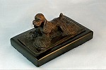 American Cocker Spaniel Lying on Rug with Marble Base (3.5