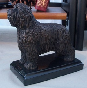 "Bearded Collie Standing with Marble Base (""H x ""W x ""L)"