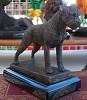 Border Terrier on Marble Base (