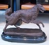 Borzoi Prancing on Marble Base (