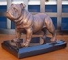 Bulldog Standing with Marble Base (