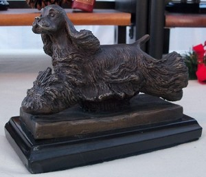 "American Cocker Spaniel Medium Moving with Marble Base (5""H x 3.5""W x 6.5""L)"