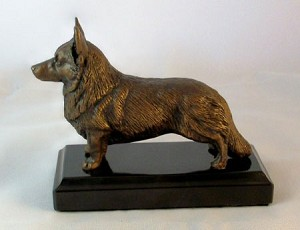 "Welsh Cardigan Corgi Standing with Marble Base (4""H x 2.25""W x 5.5""L)"