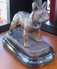 French Bulldog Standing on Marble Base (