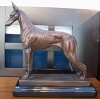 Ibizan Hound Standing with Marble Base (