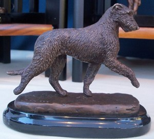 "Irish Wolfhound Moving on Marble Base (4.5""H X 2.5 ""W X 5.25""L)"