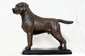 "Labrador Retiever Standing on Marble Base (8.5""H x 4""W x 8""L)"