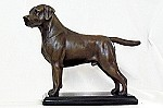 Labrador Retiever Standing on Marble Base (8.5