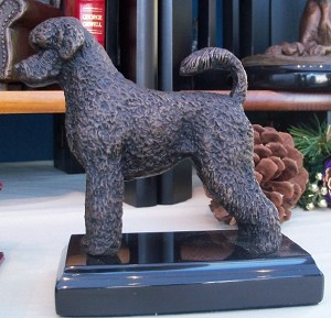 "Portugese Water Dog on Marble Base (""H x ""W x ""L)"
