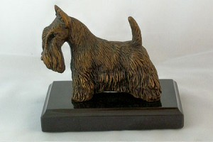 "Scottish Terrier Standing on Marble Base (4.5""H x 3""W x 5.25""L)"