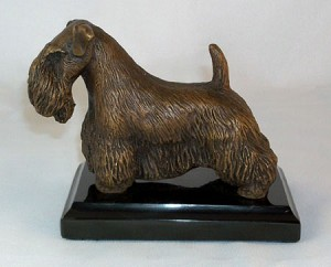 "Sealyham Terrier Standing on Marble Base (4""H x 3""W x 5""L)"