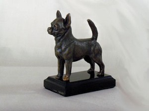 "Chihuahua (Short-Haired) Standing with marble base (4.75""H x 2.5""W x 4.5""L)"