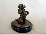 Poodle (Toy) Begging on Marble Base (4